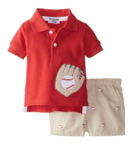 Kitestrings by Hartstrings Baseball Cotton Pique Polo with Twill Short Set