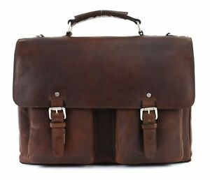 LEONHARD-HEYDEN-Glasgow-Briefcase-2-Compartments-Aktentasche-Cognac-Neu