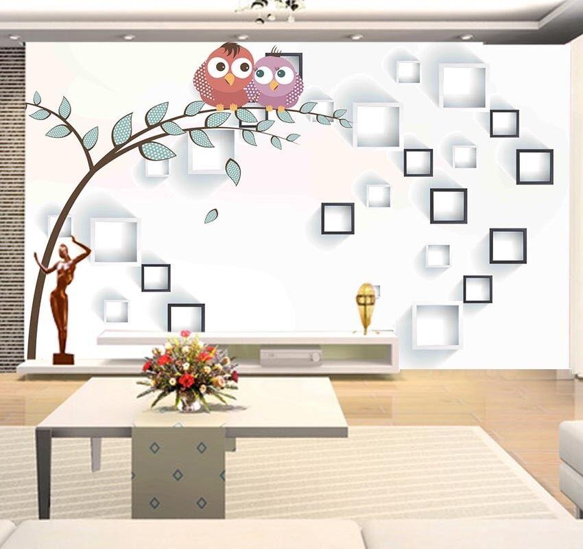 Habitual White Grid 3D Full Wall Mural Photo Wallpaper Printing Home Kids Decor