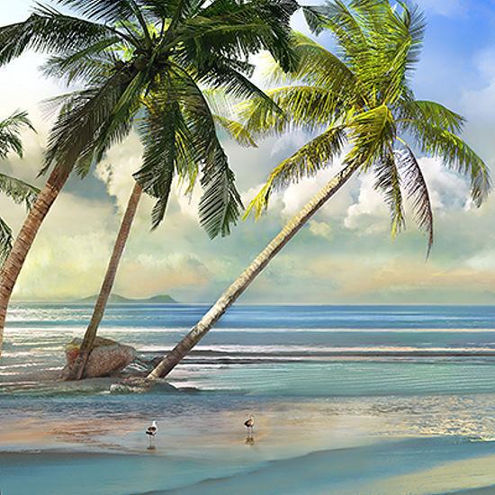 Mike Calascibetta  A Found Paradise III Keilrahmen-Bild Leinwand Südsee Urlaub