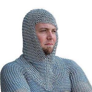 Battle Ready Mild Steel Zinc Plated 16 Gauge Knights Chain Mail Coif Armor