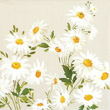4x Paper Napkins for Decoupage Decopatch Craft Marguerite