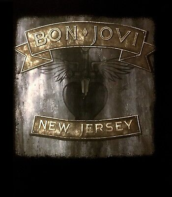 BON JOVI cd cvr NEW JERSEY Official Black SHIRT Size XL new