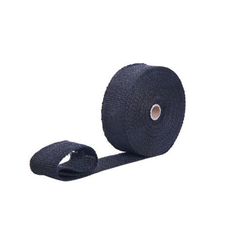 "Fibre Glass Header Heat Wrap 2/"" x 50/' Roll Heat Shield Manifold with zip Ties"