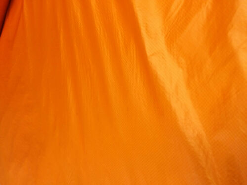 124cms wide bright orange  army parachute ripstop nylon material lining arts .