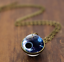 Solar-System-Pendants-Necklace-Galaxy-Planet-Necklace-S-Double-Sided-Glass-Dome thumbnail 12
