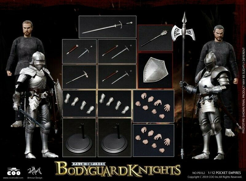 COOMODEL PE012 1 12 Pocket Empire General Guard Knight Double Suit Figure Toys