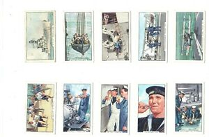 1937-The-Navy-Royal-Gallaher-Complete-Tobacco-48-Card-Set-vintage-collection