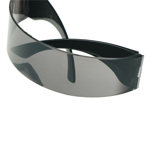 Funny Futuristic Wrap Around Monob Costume Sunglasses Mask Novelty Party KW