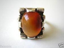 Echter Silber Ring Mit Achat Stein 5,1 g 16,0 mm Silber Schmuck