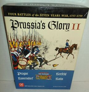 Boxed-BOARD-WAR-GAME-Prussia-039-s-Glory-II-Frederick-the-Great-4-Battles-GMT-op-039-06