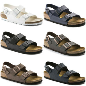 0041ff74ac3f7b Image is loading Birkenstock-Milano-Birko-flor-Strap-Sandals-Mens-Womens-