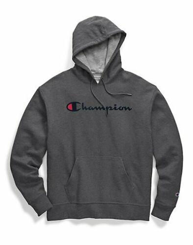 Champion Hoodie Men/'s Sweatshirt Script Logo Powerblend Pullover Kanga Pocket