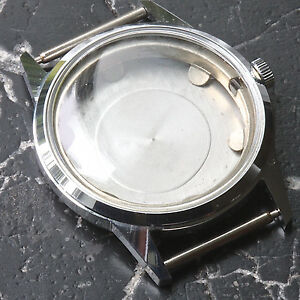 Swiss-steel-vintage-Gruen-watch-case-crystal-crown-amp-movement-ring-1950s-6-sold