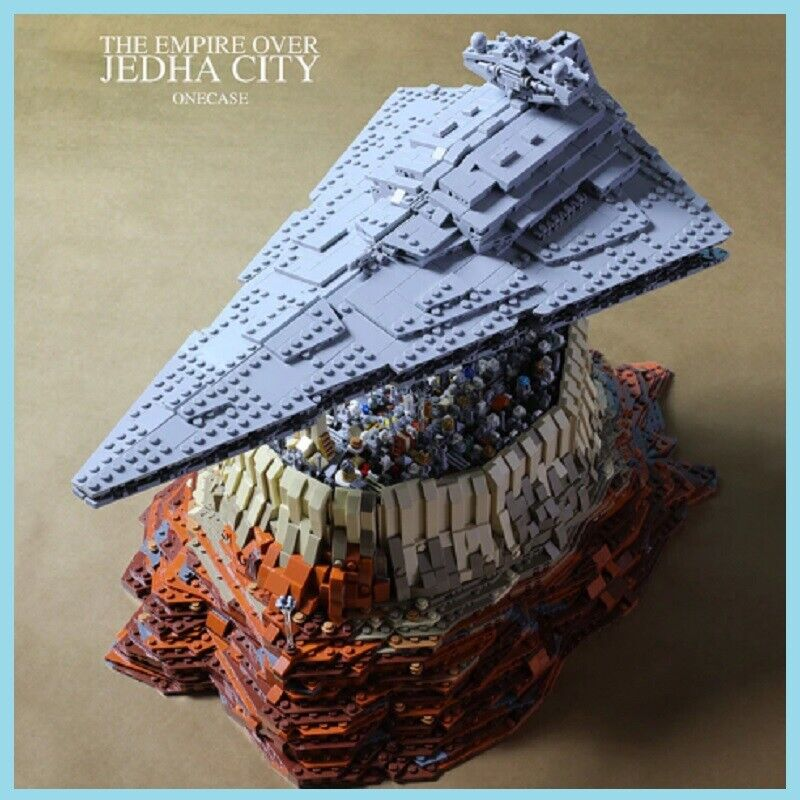 IN STOCK DHL MOC 18916 5000+Pcs Star Plan The Empire Over Jedha City Building