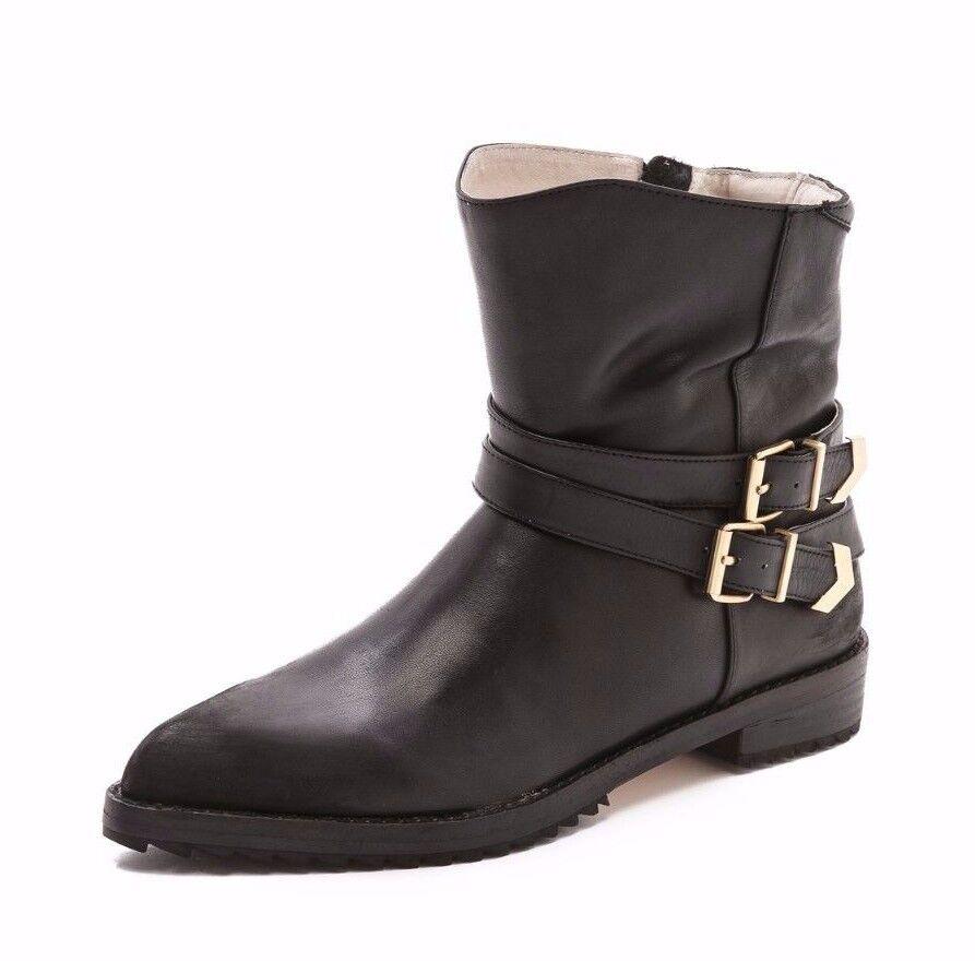 MATT MATT MATT BERNSON chaussures VOX BUCKLE démarrageIES ANKLE bottes noir LEATHER 8  370 MOTO NEW a239be