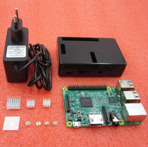 Raspberry pi 3 ABS Case Box+Aluminum Radiator+charger jack Raspberry pi 3