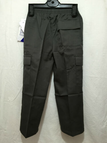 BNWT Boys Sz 10 LWR Brand Dark Grey Elastic Waist Cargo Side Pocket School Pants