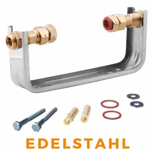 """Verschraubung Wasseruhr EDELSTAHL Wasserzählerbügel für Wasserzähler 1//2/"""" 3//4/"""""""