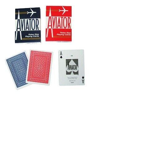 Bicycle Deck Poker Spielkarten Aviator Deck Premium blau oder rot Playing Cards