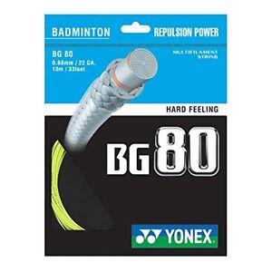 Yellow Free UK P/&P Genuine Yonex BG80 Badminton Racket  String BG 80-10m