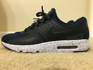 outlet store f73c2 787ca Details about NIKE AIR MAX ZERO PREMIUM, [881982-400] ARMORY NAVY, MENS  RUNNING SHOES, SZ 12.5