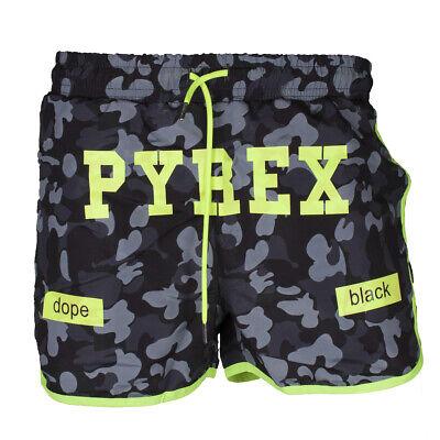 Costume Pyrex Uomo Nero camouflage con stampa fluo PY19104
