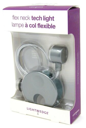 LightWedge LED Night Light Flex Neck Tech Gunmetal NEW!