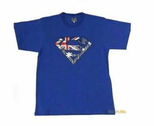 Adult-T-Shirt-Australian-Australia-Day-Souvenir-Gift-100-Cotton-Superman
