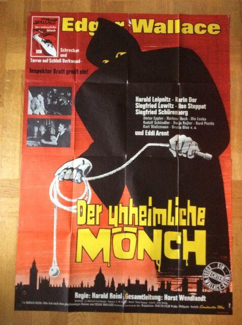 Unheimliche Mönch (A0-Kinoplakat '65) - Karin Dor / Harald Leipnitz / E. Wallace