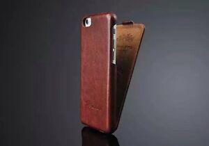Apple-iPhone-7-Farbe-Braun-Etui-Huelle-Tasche-Leder-Klapp-Case-Flip-Luxus