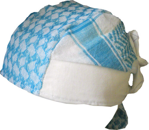 BABY PALI BANDANA Türkis-weiß Kopftuch