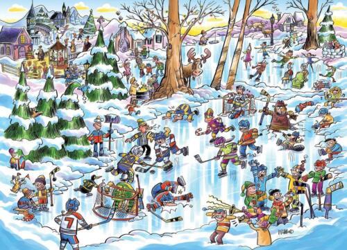 Cobblehill Puzzles 1000 piece Hockey Town   CBL53507 Jigsaw Puzzle DoodleTown