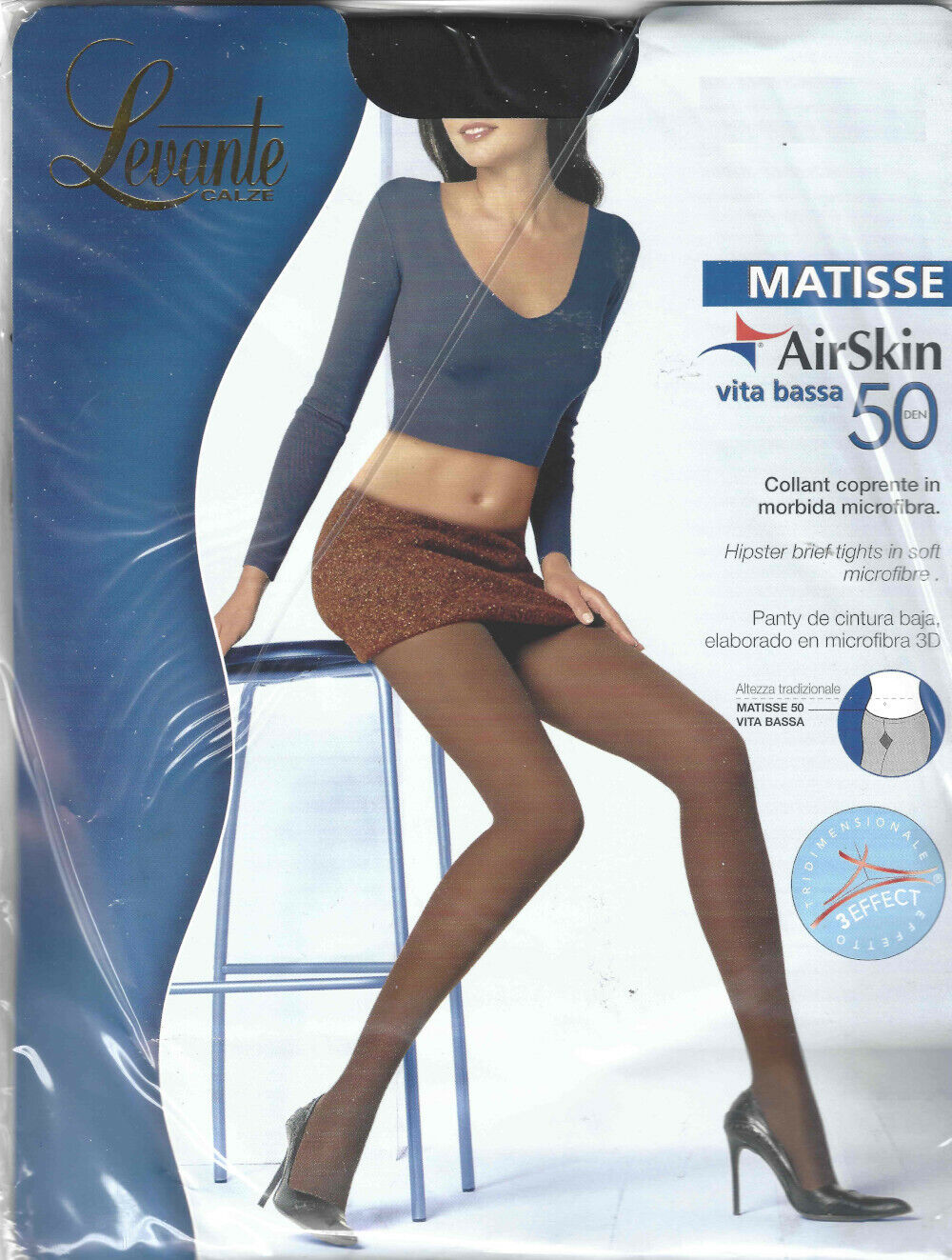 Levante Collant Donna Matisse 150 DEN AirSkin Calze Morbido in microfibra