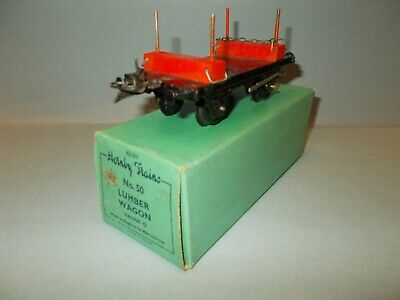Hornby O Gauge No.50 Series Lumber Wagon In Green Box Circa 1957 Excellent
