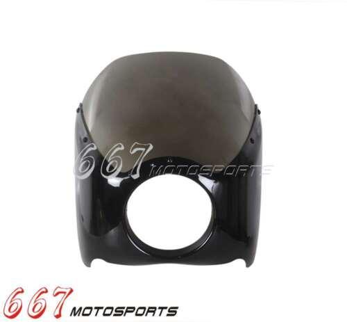 Smoke ABS Plastic Wide Glide//Custom Mid Glide Fairing For Harley Sportster XL