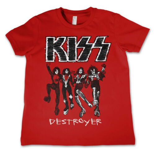 Officially Licensed KISS Destroyer Unisex Kids T-Shirts Ages 3-12 Years