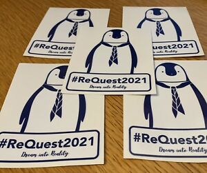 Pack of 5 Super-Large Shackleton The Penguin Stickers 75mm x 100mm #REQUEST2021