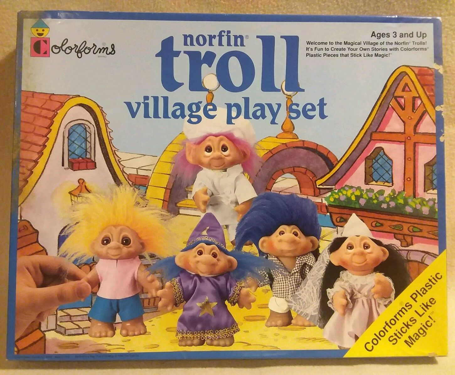 Norfin Troll Village Play Set by colorforms 1992