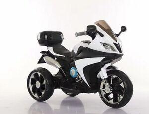 Kids Ride On Car Motorcycle Battery Powered Trike 3 Wheel Bike 605 White Ebay
