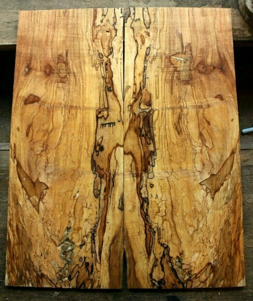 Gorgeous inkline spalted ambrosia maple top .30  thk guitar bass tele strat 991