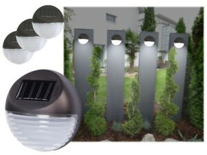 3 x led solare luce recinzione lampada parete illuminazione da