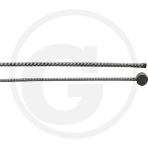 Gaszug/_1,6x2500mm/_Kupplungsseilzug/_Bowdenzug/_Bremszug/_Tonnennippel 6x3