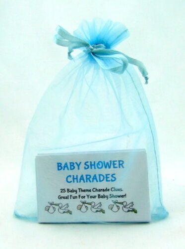 CHARADES-Baby Shower Party Game Blue White 25 GAME CARDS /& GREAT FUN Pink