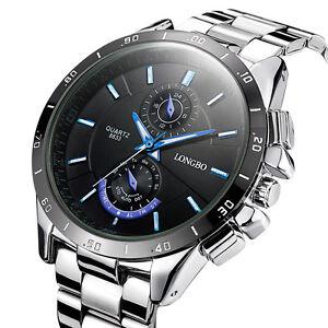 Fashion-Men-039-s-Stainless-Steel-Military-Waterproof-Army-Analog-Quartz-Wrist-Watch