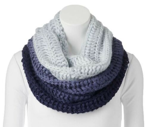 Apt.9 Womens Ombre Cowl Infinity Scarf Sweater Knit Black or Navy New $32