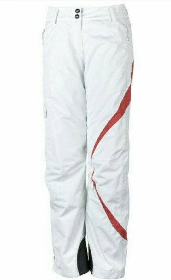Obermeyer Women's Andorra Ski Pants Size 14 color White MSRP