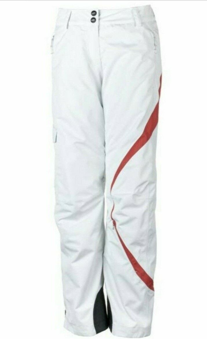 Obermeyer Women's Andorra Ski Pants Size  14 color White MSRP  260  amazing colorways
