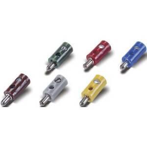 Spina-2-6-mm-per-modellismo-ferroviario-100-pz-con-foro-trasversale-giallo