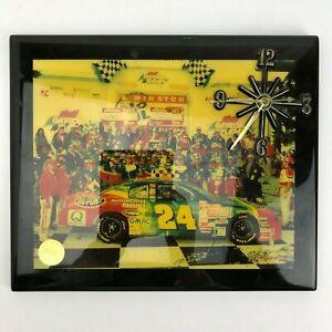 Vintage-NASCAR-Racing-Reflections-Clock-Plaque-Jeff-Gordon-24-12-034-x-10-034